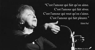 amour citation Edith Piaf 2